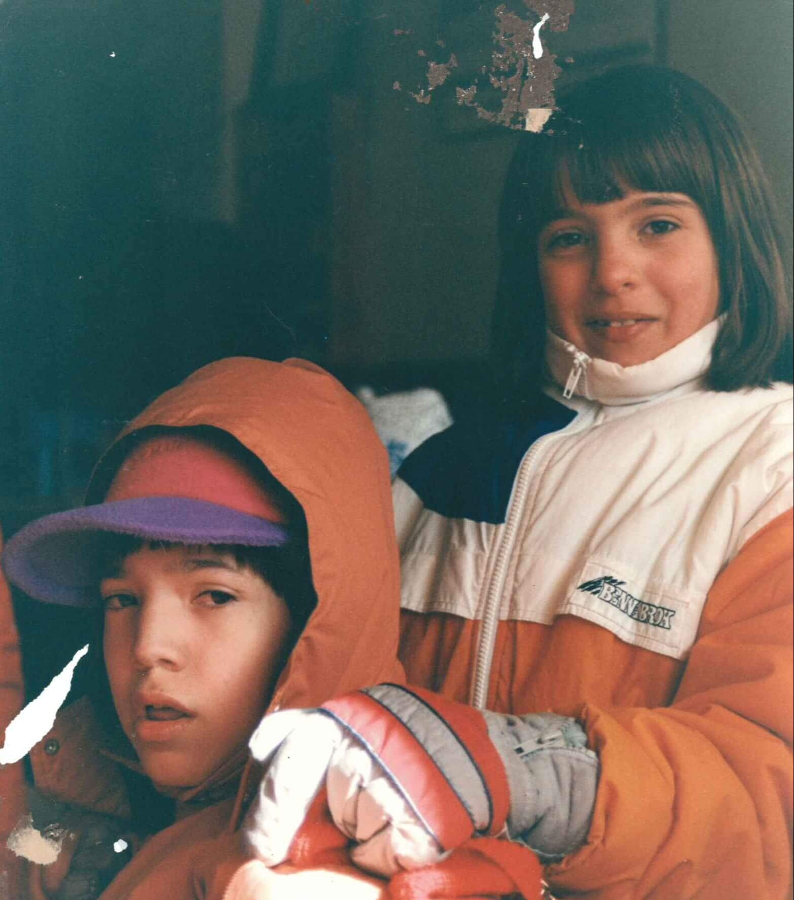 lacomunita bambini vestiti da sci