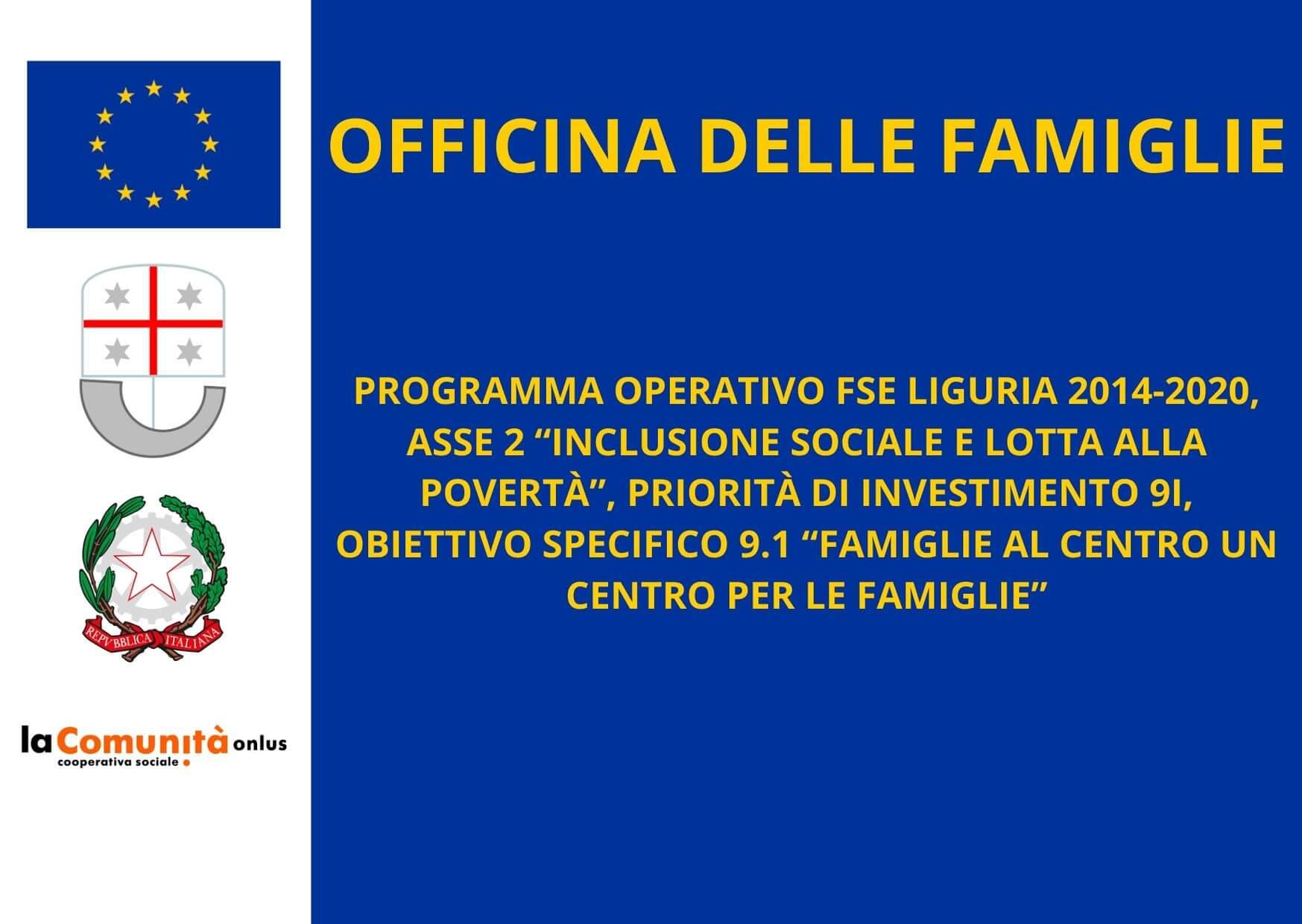 lacomunita certificato cofinanziamento officina delle famiglie