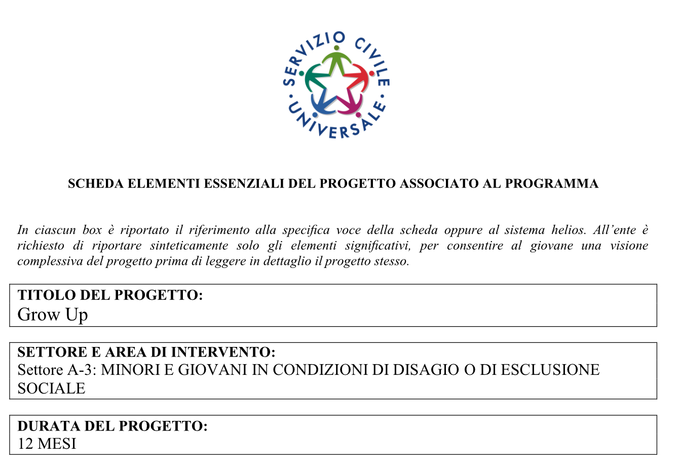 Progetto Grow-Up